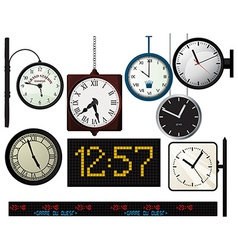 Train station watches collection vector