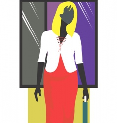 Businesswoman abstract vector