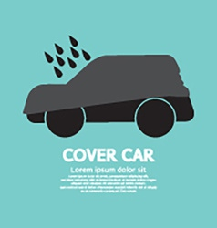 Car cover graphic vector