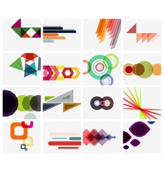 Modern geometrical art background templates vector