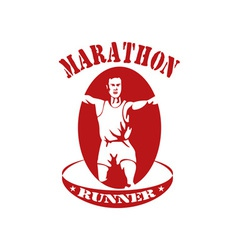 Marathon runner run race vector
