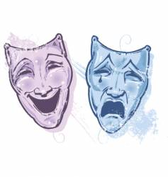 Theater faces vector