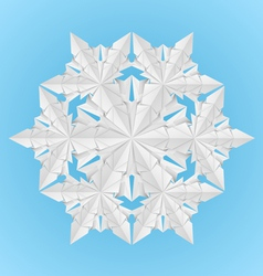 White paper snowflake vector