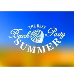 Best beach party poster vector