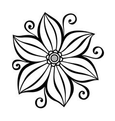 Beautiful decorative flower vector