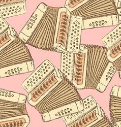 Sketch accordion music instrument vector