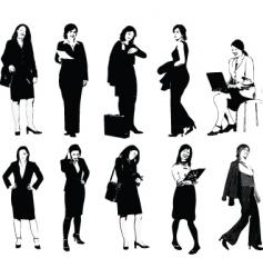 Set of 10 office women vector