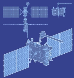 Hidetailed gps satellite vector