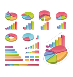 Set of coloured charts vector
