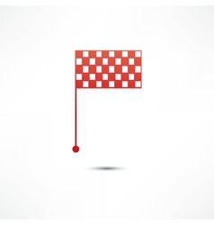 Racing flags icon vector