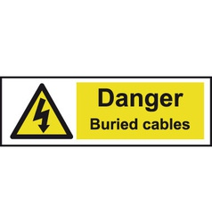 Danger buried cables safety sign vector