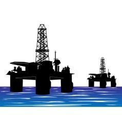 Oil drilling rigs vector