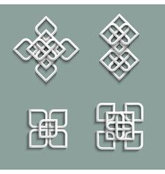 3d ornaments in arabic style vector