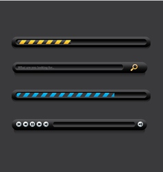 Loading bars vector