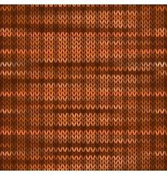 Seamless knitted melange pattern orange brown vector