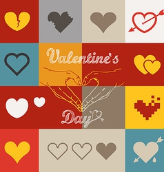 Different abstract heart icons collection vector