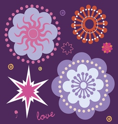 Beginning of spring magic flowers vector
