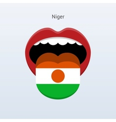 Niger language abstract human tongue vector