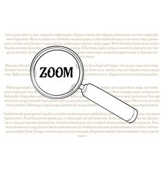 Magnifying glass and zoom vector