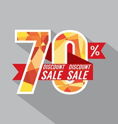 Discount 70 percent off vector