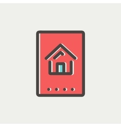 Electronic keycard thin line icon vector