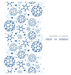 Blue molecules texture vertical frame seamless vector