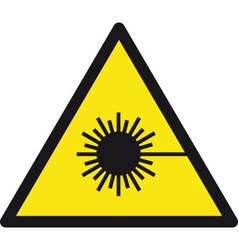 Warning lasers safety sign vector