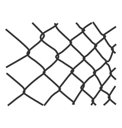 Wire fence vector