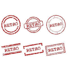 Retro stamps vector