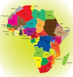 Africa map vector