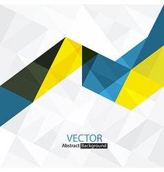 Abstract colorful triangles vector