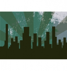 City at the night vector