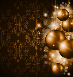 Golden christmas vector