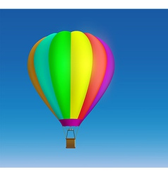 Hot air balloon on the sky background vector