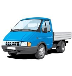 Small cargo truck vector