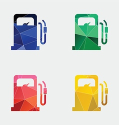 Petrol station icon abstract triangle vector