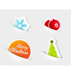 Christmas colored symbols vector
