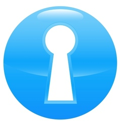 Keyhole blue icon vector