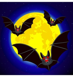 Bats and moon vector