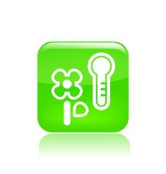 Temperature flower icon vector