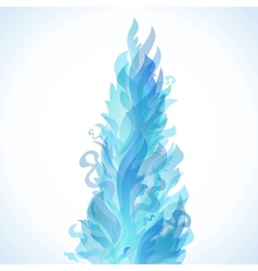 Different blue fire flames on a white background vector