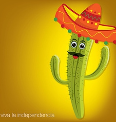 Cactus character card in format vector