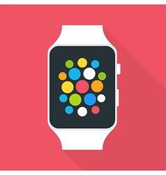 Smart watch flat stylized vector