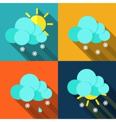 Meteorology weather icons with modern design vector
