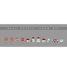 Real estate icons set design vector