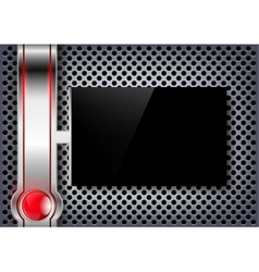 Black screen on a metal background vector