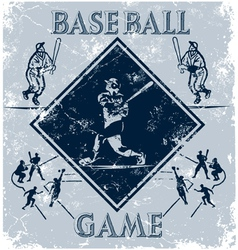 Sport game baseball vector