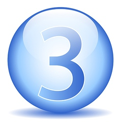 Number three button vector