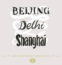 Beijing delhi shanghai vector