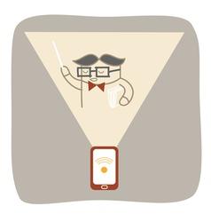 Mobile e learning vector